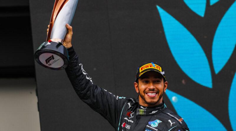 Lewis Hamilton jako vítěz VC Turecka