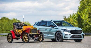 Laurin & Klement Voiturette A s Škoda Enyaq iV