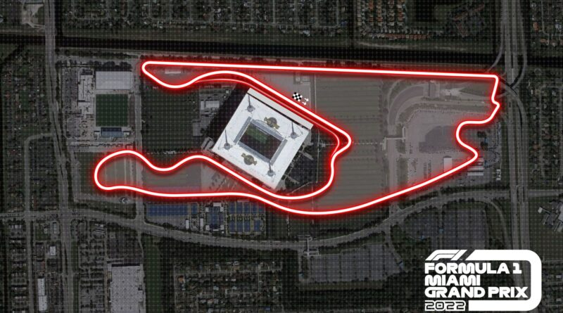 Formule 1: Mapa okruhu Velké ceny Miami